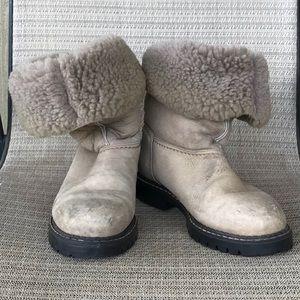 Sorel Leather Sheepskin Boot